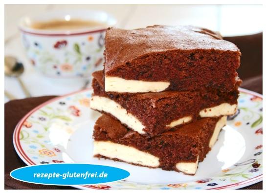Schoko Kasekuchen Auf Dem Blech Tanja S Glutenfreies Kochbuch