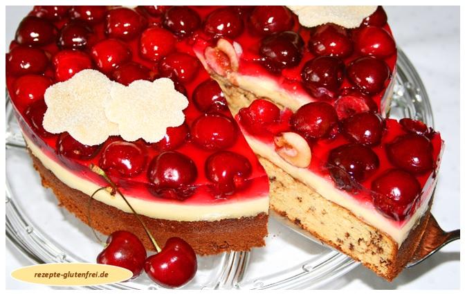 Marzipan-Kirsch-Torte 1