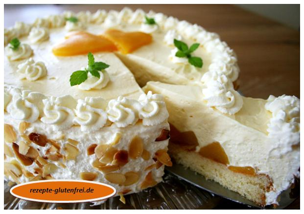 Pfirsich-Sekt-Torte