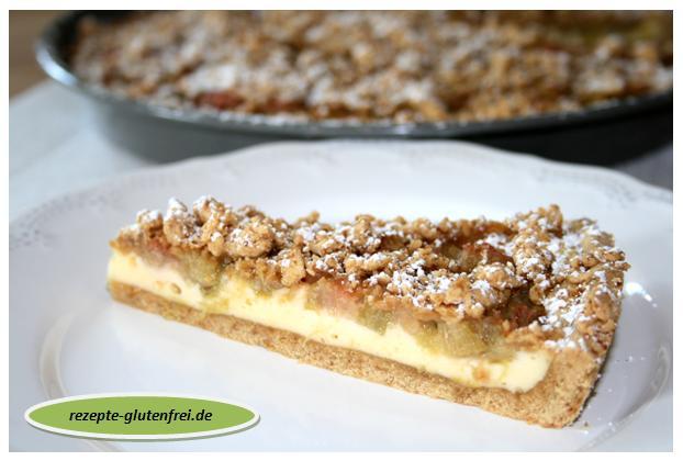 Rhabarber Quark Streuselkuchen Tanja S Glutenfreies Kochbuch