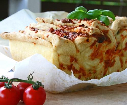 Zupfbrot Tomate Mozzarella 6